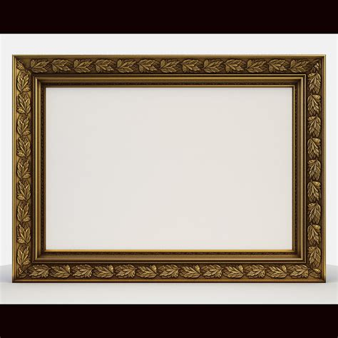 framing a picture frame picture classic 3d model