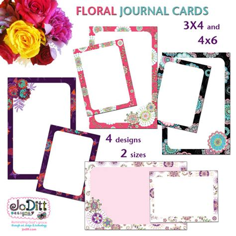 printable memory journal floral printable journal cards scripture memory cards