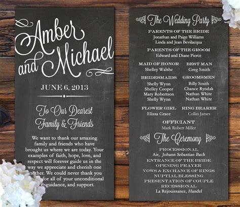 programs for wedding invitations 25 best ideas about wedding programs on
