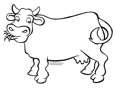 coloring pages free cow cow coloring page dr odd
