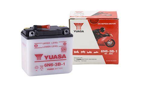 Aki Motor Yuasa Basah 6n6 3b 1 Rx King Binter Kh 6n6 3b 1