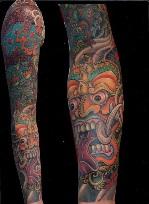 barong leg tattoo japanese tattoo tattoorium barong foo dog tattoos and