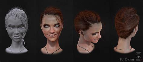 zbrush hair tutorial fibermesh female assassin 3d wip by su x chih zbrushtuts
