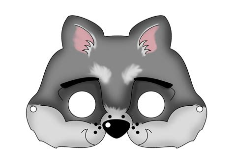 6 best images of printable wolf mask printable wolf mask