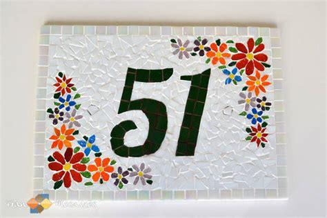 mosaico casa placa n 250 mero de casa mosaico quot branca quot fran mosaicos elo7