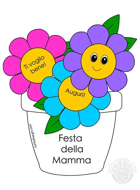 festa mamma 2018 biglietto festa della mamma a forma di vaso con fiori