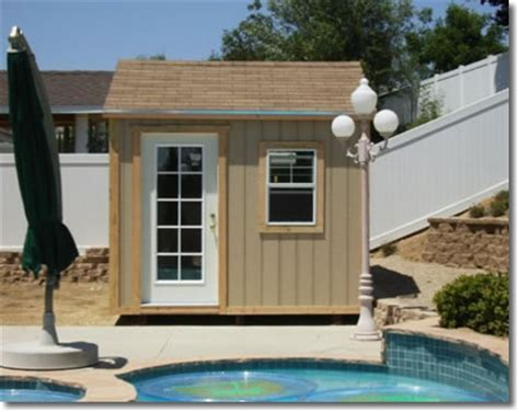Pool Changing Shed by Custom Storage Buildings Garages Sheds In Los Angeles