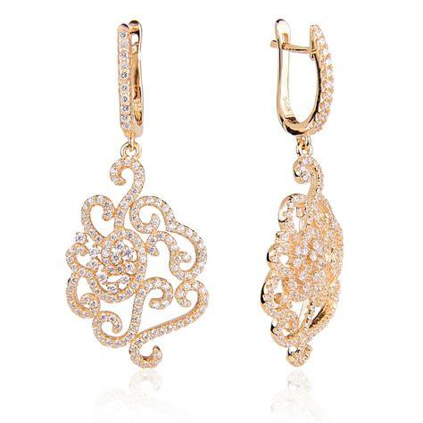 Silver Chandelier Earrings Uk Ingenious Gold Chandelier Earrings With Pave Flower Design Ingenious From Ingenious Jewellery Uk