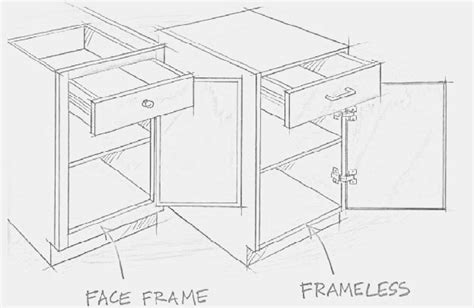 face frame cabinets vs frameless choosing 171 true grain cabinetry