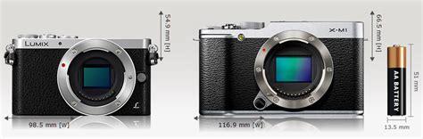 Kamera Fujifilm Kecil kamera panasonic gm1 vs fujifilm x m1 dan x a1