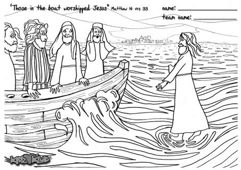 coloring pages jesus walks on water jesus walks on water coloring page