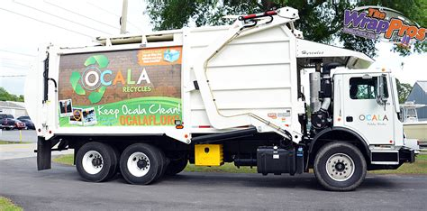 truck ocala fl city of ocala sanitation truck bb graphics the wrap pros