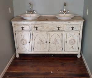furniture white wooden shabby bathroom vanity with