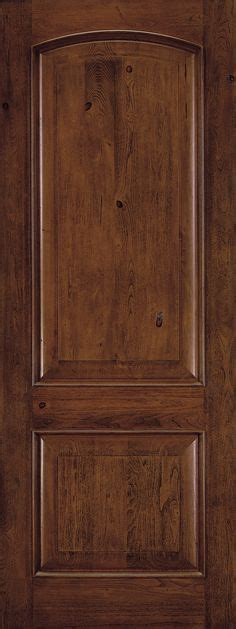 Jeld Wen Custom Fiberglass Exterior Doors Feather River Doors 37 5 In X 81 625 In 2 Panel Plank Chocolate Mahogany Stained Left