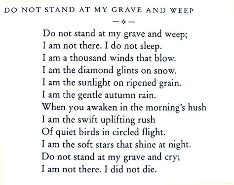the voiceless quot do not stand at my grave and weep quot