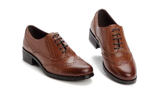 Genuine Leather Brogue Oxfords black brown genuine leather oxford shoes for flats
