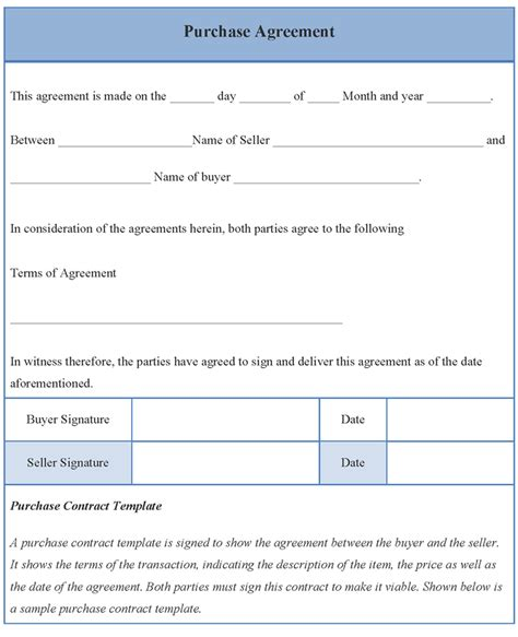 buyers contract template buyer seller agreement template pictures to pin on