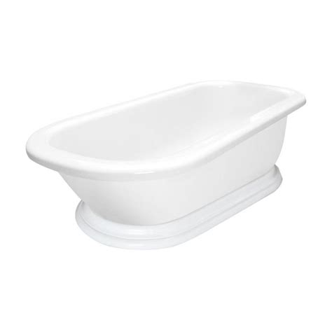 shop american bath factory 54 in white acrylic
