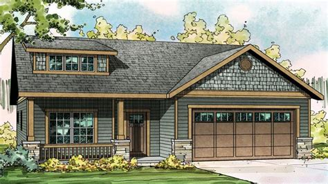Craftsman Style House Plans With Porches Small Craftsman Cottage Ranch House Plans