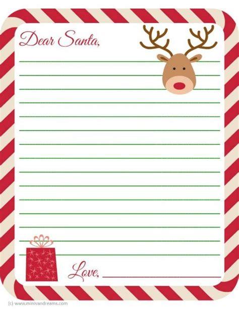 Letter To Santa Free Printable Mini Van Dreams Santa Letter Templates Free 2