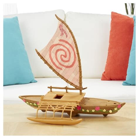 moana figures with boat disney moana starlight canoe and friends target