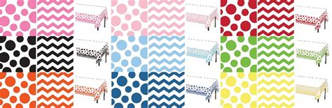 chevron pattern tablecloths polka dot and chevron pattern tablecloths and napkins