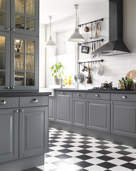 black and grey kitchen cabinets ikea 214 sterreich inspiration k 252 che front liding 214 griff