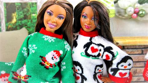 how to make a doll christmas sweater doll crafts youtube