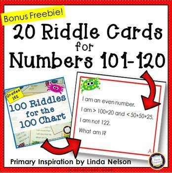 and second grade riddle cards for 101 120 bonus