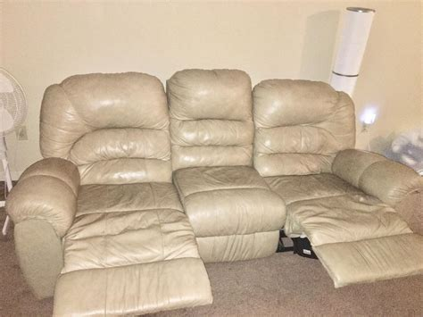 sand colored couch sand colored reclining sofa 200 obo central edmonton