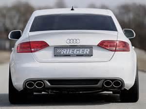 rieger rear bumper diffuser for audi a4 b8