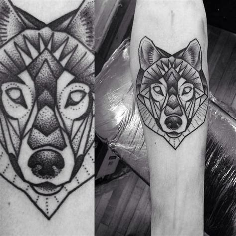 geometric tattoo oxford geometric wolf tattoo macarena sepulveda tattoo