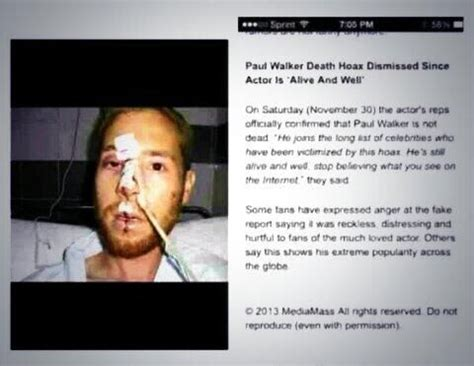 alan walker paul walker paul walker hoaxes continue to trend today this photo is