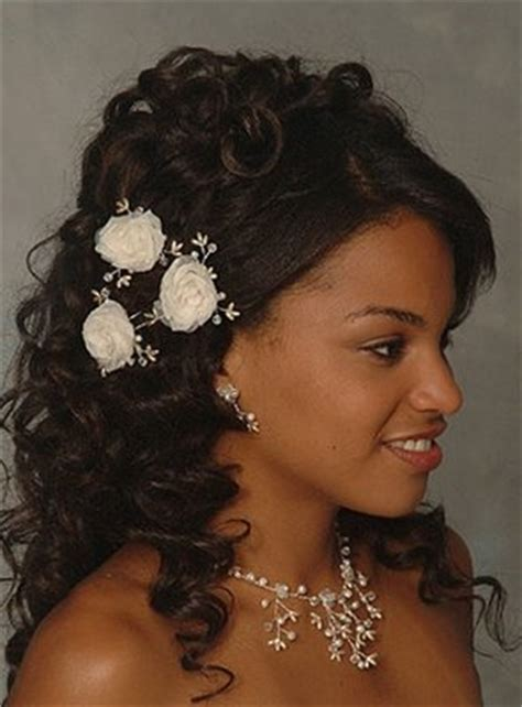 Black Wedding Hairstyles To The Side by Curls Black Wedding Hairstyle Side View