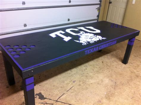 custom black tcu pong table pong