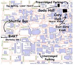 california berkeley map lodging transportation and directions for and soda halls