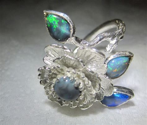wedding rings with opal opal wedding rings handmade guaranteed with opal