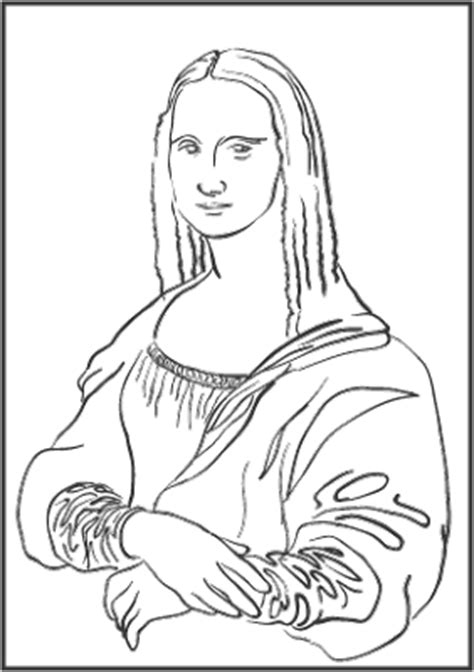 Image Mona Lisa Coloring Page Download Mona Coloring Pages