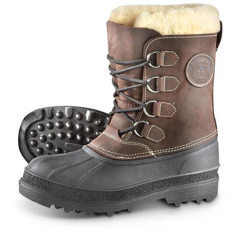 mens shearling boots s kamik 174 pearson shearling boots gaucho 579885