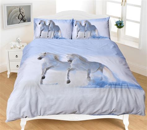 horse bedroom sets duvet covers sets 3d white horse duvet sets horse
