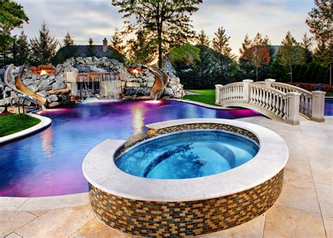 inground swimming pool spa traditional pool
