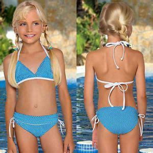 little girl models ages 11 l 48 kind m 228 dchen bikini badeanzug blau weiss peas age 8 9