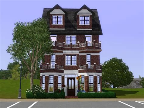 mod the sims comfy townhouse a three story house with