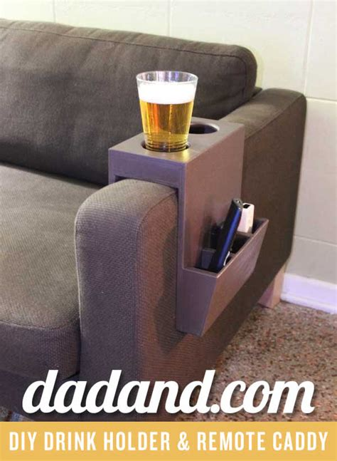 couch arm cup holder diy couch cup holder and remote caddy dadand com