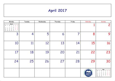 printable calendar april 2016 march 2017 april 2017 calendar printable printable 2017 calendar