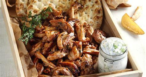 Greek Main Dishes - chicken gyro akis petretzikis