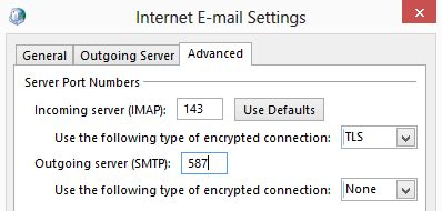 imap port 143 ox mailbox setup on outlook client via imap luxcloud