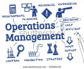 operations management chart with keywords and icons stock