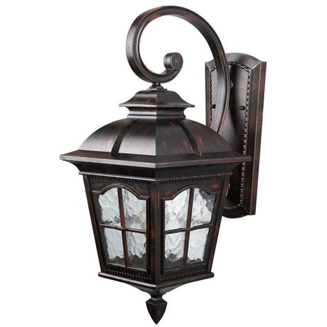 Rustic Outdoor Wall Lights Canarm 1 Light Rustic Bronze Outdoor Wall Lantern With Watermark Glass Iol144rbz Hd