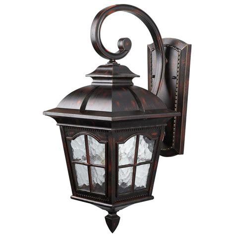Rustic Outdoor Lighting Lantern Canarm 1 Light Rustic Bronze Outdoor Wall Lantern With Watermark Glass Iol144rbz Hd